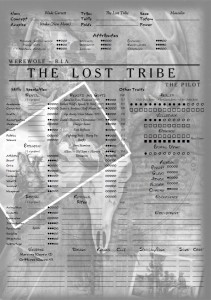 Feuille de Personnage The Lost Tribe Wade Garrett version Werewolf recto